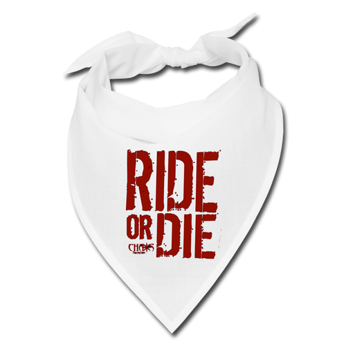 Chaos Fit Wear - Ride Or Die Bandana - With Red Logo - white