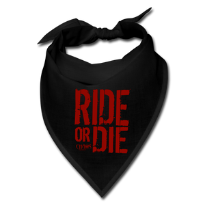 Chaos Fit Wear - Ride Or Die Bandana - With Red Logo - black