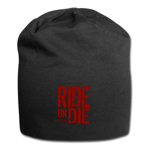 CHAOS FIT WEAR - RIDE OR DIE - BEENIE - RED LOGO - black