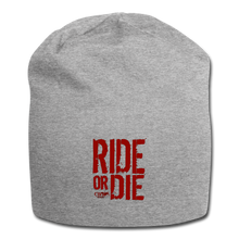 CHAOS FIT WEAR - RIDE OR DIE - BEENIE - RED LOGO - heather gray