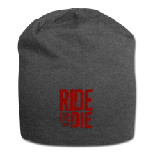 CHAOS FIT WEAR - RIDE OR DIE - BEENIE - RED LOGO - charcoal gray