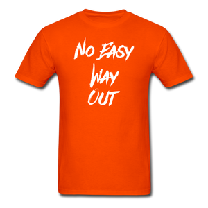 No Easy Way Out, T-Shirt with White Lettering - orange