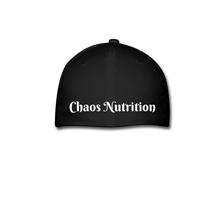 CHAOS FIT WEAR - RIDE OR DIE FLEX FIT HAT - BLACK WITH WHITE LOGO - black