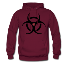 RIDE OR DIE, HOODIE WITH BLACK LETTERING - burgundy