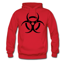 RIDE OR DIE, HOODIE WITH BLACK LETTERING - red
