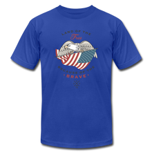 Land Of The Free Because Of The Brave - royal blue