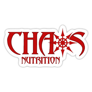 CHAOS NUTRITION SMALL DECAL (RED) - white matte
