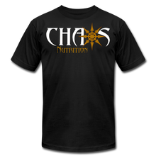 CHAOS NUTRITION ORIGINAL LOGO T-SHIRT with GOLD LOGO - black