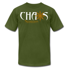 CHAOS NUTRITION ORIGINAL LOGO T-SHIRT with GOLD LOGO - olive