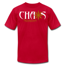 CHAOS NUTRITION ORIGINAL LOGO T-SHIRT with GOLD LOGO - red