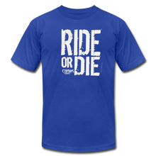 RIDE OR DIE - T-SHIRT with WHITE LOGO - royal blue