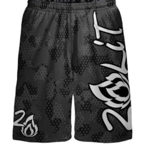 Grey Honey Comb Camo PERFORMANCE SHORTS