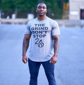 THE GRIND DON'T STOP PERFORMANCE TEE
