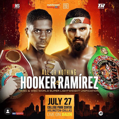 Maurice Hooker vs. Jose Ramirez July 27 in Dallas, Texas! 140 Unification!