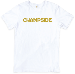 CHAMPSIDE: The Baddest Brand In The Land Text Shirt