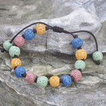 Round Style Lava Stone Essential Oil Bracelets - 7 varieties - Mind And Body Accessories