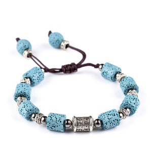 Shamballa Style Beaded Lava Stone Beaded Bracelets - 12 colors! - Mind And Body Accessories