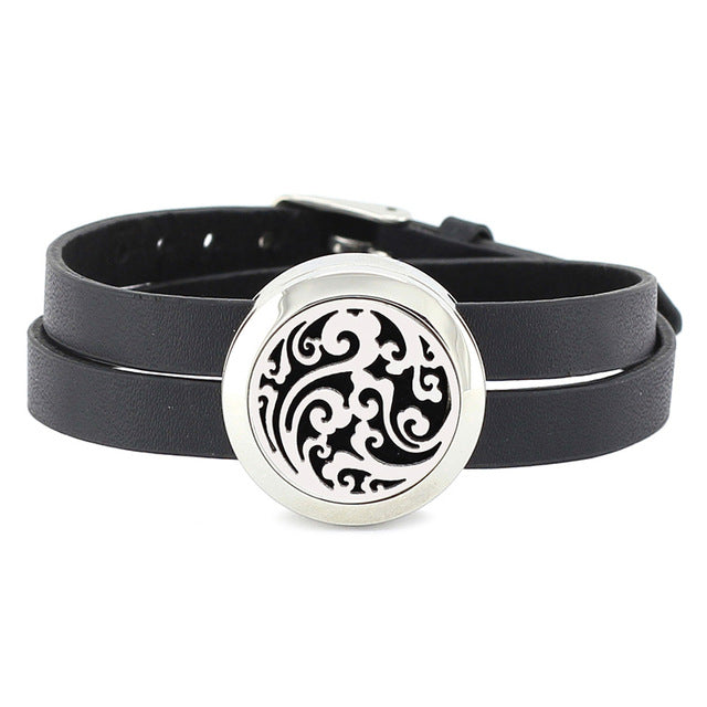 Essential Oil Diffuser Wrap Bracelet with Double Leather Band - Mind And Body Accessories