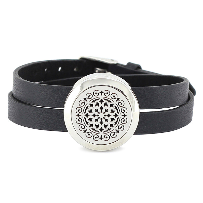 Essential Oil Diffuser Wrap Bracelet with Double Leather Band (Music note and more!) - Mind And Body Accessories