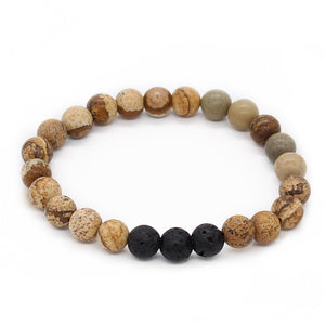 Natural Black Lava Stone Essential Oil Diffuser Beaded Bracelets - Mind And Body Accessories