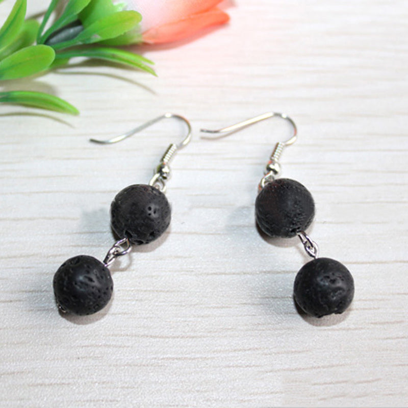 Two Lava Stone Essential Oil Diffuser Earrings - Mind And Body Accessories