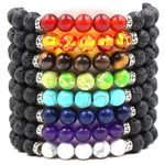 Black Lava Stone Essential Oil Diffuser Bracelet - 16 Colors - Mind And Body Accessories