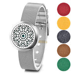 Stainless Steel Watch Band Style Essential Oil Diffuser Bracelet - Mind And Body Accessories