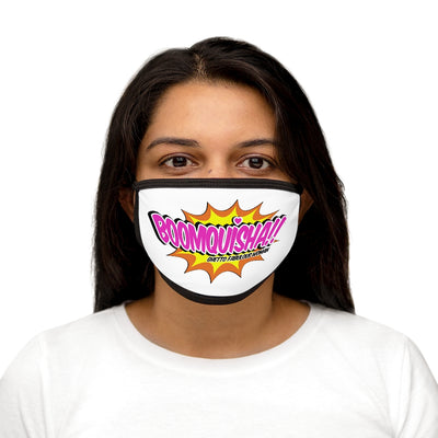 Boomquisha Mixed-Fabric Face Mask
