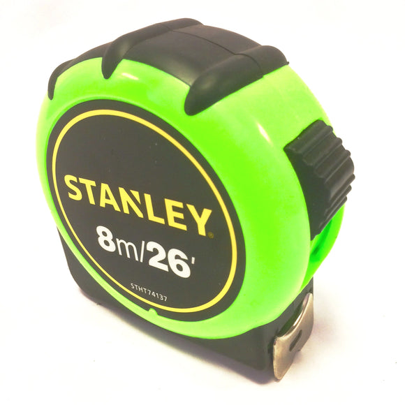 Stanley high visibilty tape measure 8 metre STHT74137