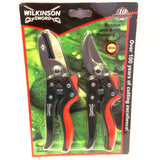 Wilkinson sword bypass and anvil pruner set