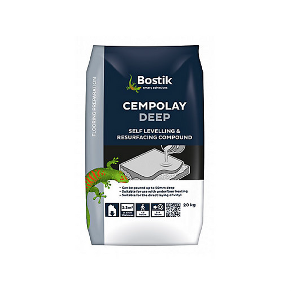 bostik cempolay deep self levelling adhesive compound 20kg horley