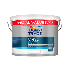 Dulux Trade Vinyl Matt Pure Brilliant White 7.5L