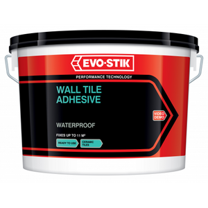 Evostik wall tile adhesive and grout waterproof horley ready to use white