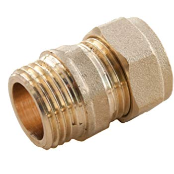 15mm x 1/2 Male Iron Compression Coupler