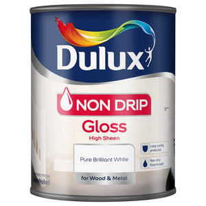 Dulux Non Drip Gloss White 750ml