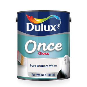 Dulux Once Gloss White 750ml