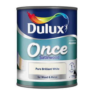 Dulux Once Satinwood White 750ml