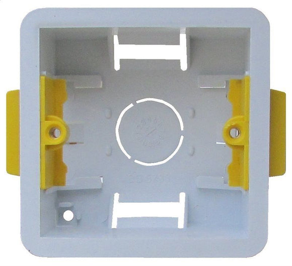 Single Plasterboard Mounting Box 35mm