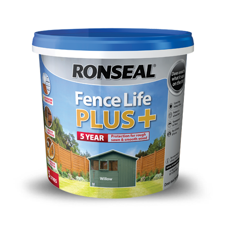 fence paint exterior paint horley ronseal fence life plus +