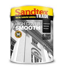 Sandtex Trade High Cover Smooth- Black 5L