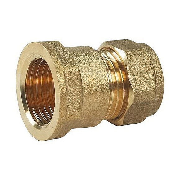 Straight Compression Female 22mm x 3/4