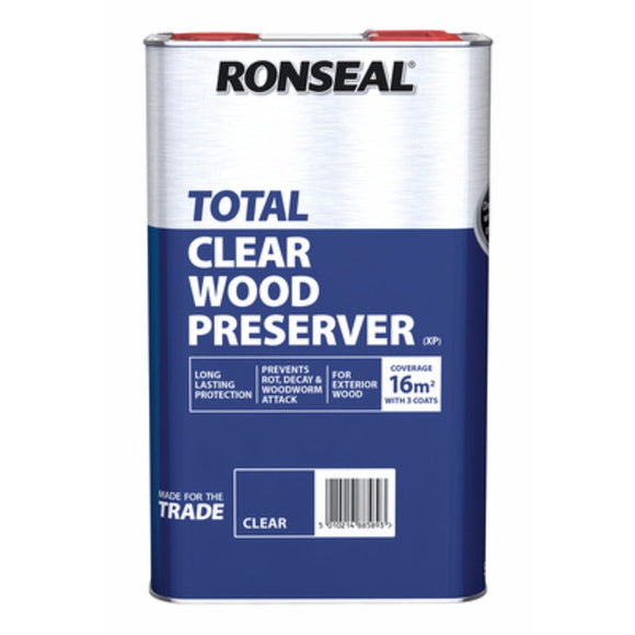 Ronseal Total Clear Wood Preserver 5L