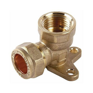 Wallplate Compression Elbow 15mm x 1/2