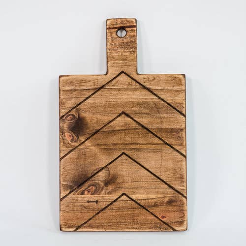 Engraved Wooden Board, Chevron - Fancy That