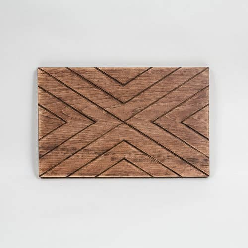 Engraved Wood Board Chevron X - Fancy That