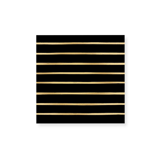 Small Match Box: Striped Gold Foil - Fancy That
