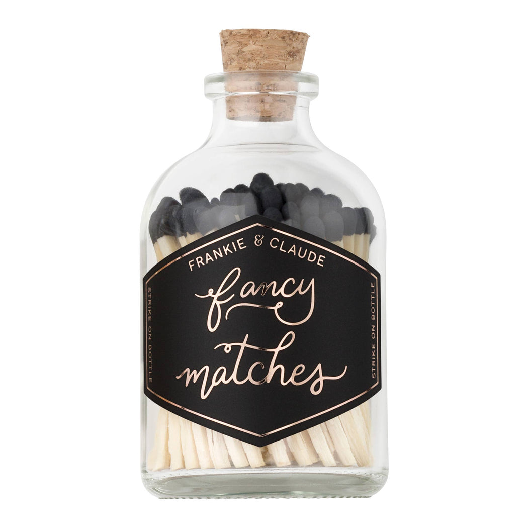 Fancy Matches: Black Small Match Jar - Fancy That