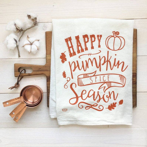 Happy Pumpkin Spice Season Tea Towel - Fancy That