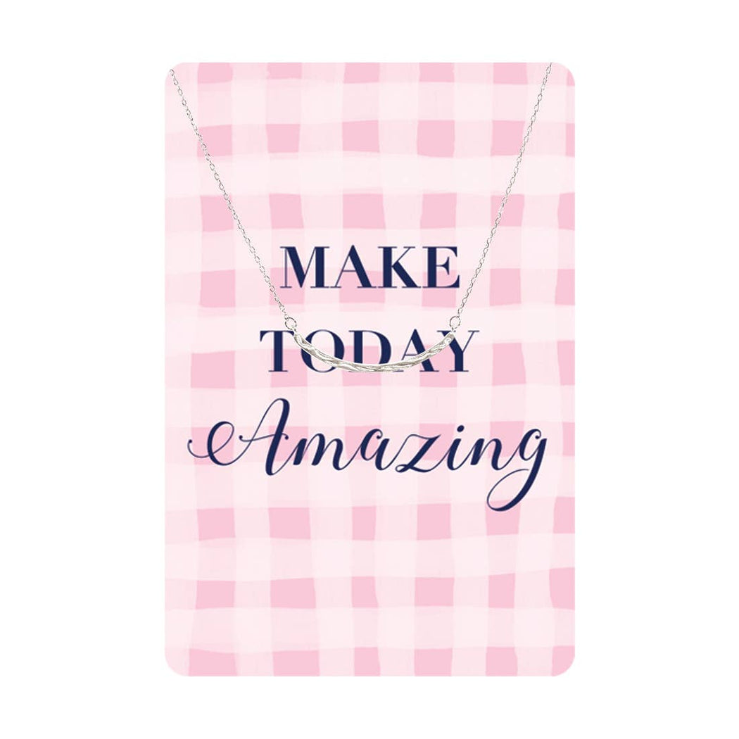 Make Today Amazing Keepsake Necklace Card - Fancy That