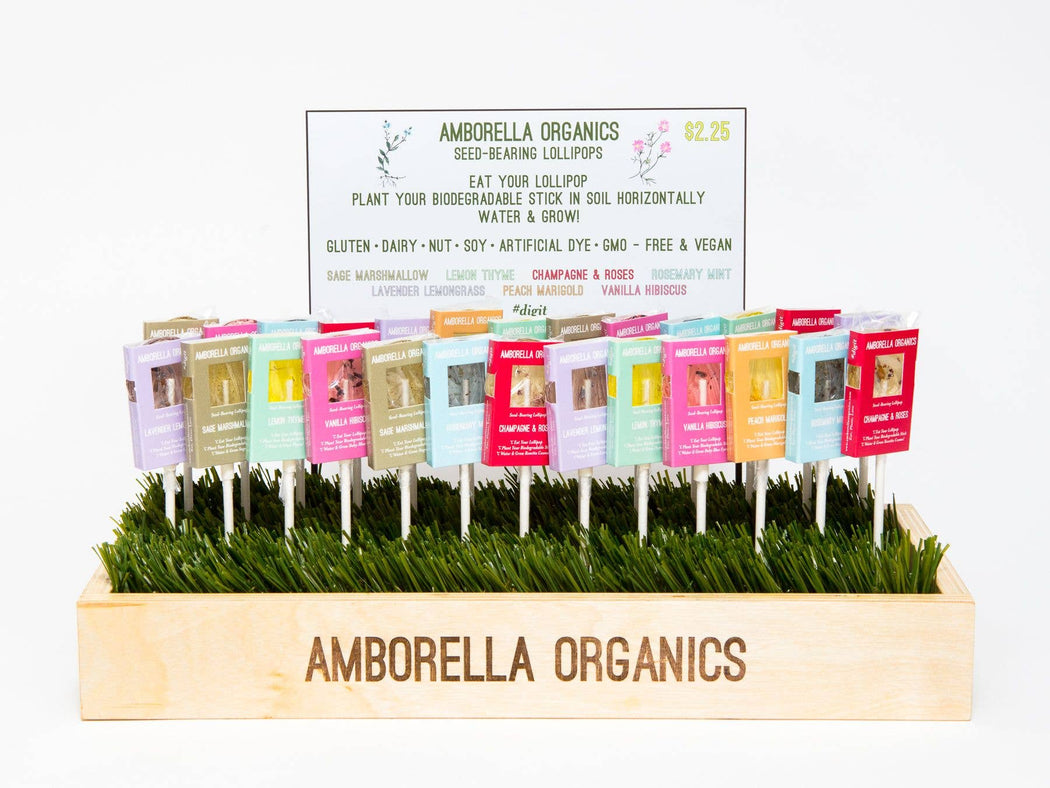 Seed-Bearing Lollipops - 10 flavors - Fancy That